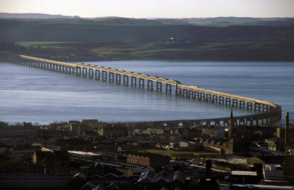Tay Bridge over the Firth of Tay, 1997.