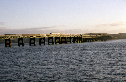 Tay Bridge over the Firth of Tay, 1998.