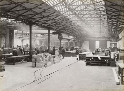 Timber workshop at Doncaster works, South Yorkshire, c 1916.