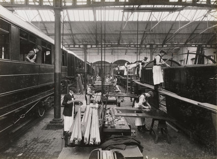Doncaster carriage works, South Yorkshire, c 1916.