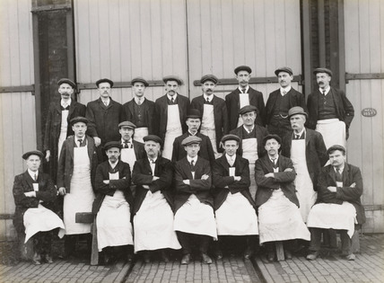 Staff at Doncaster Works, South Yorkshire, c 1916.