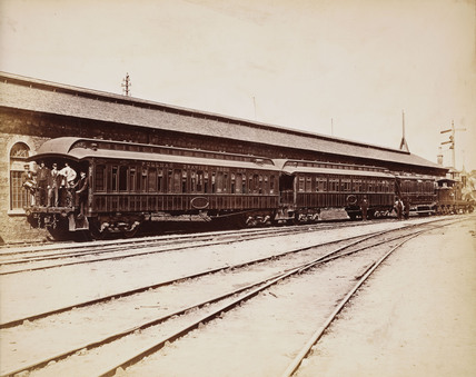 Pullman train, 1876.
