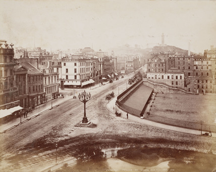 View of Princes Street and Midland Railway offices, Edinburgh, 1876.