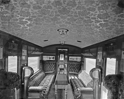 LNWR Picnic Saloon Interior, c 1920s.