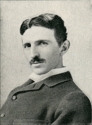 Nikola Tesla, Croatian-born Serb engineer, physicist and inventor, c 1885.