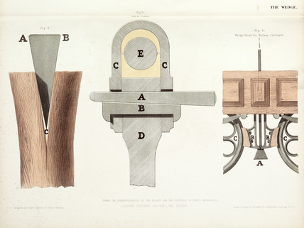 Wedge break for railway carriage, 1842-1846.