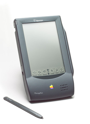 Apple Newton Message Pad, part of the Science Museum's collection, used a stylus for the user to interact with the screen. (Source: Science Museum / SSPL)