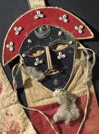 Necromancer's cloth mask, Tibet, 1850-1900.