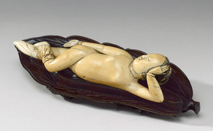 Ivory diagnostic figure, China, 18th to early 19th century.