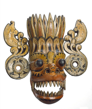 Wooden mask, Sri Lanka, 1771-1920.