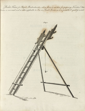 Rocket frame for rapid bombardments, 1810.