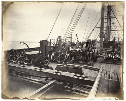 Cable Laying Machinery On The Deck Of The Ss Great Eastern C 1867 By Thomson J At Science