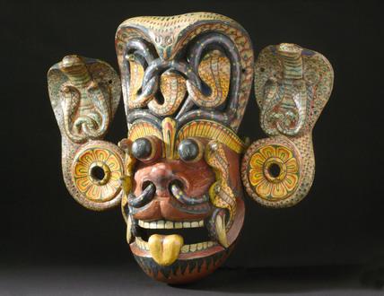 Devil mask, Sri Lanka, 1771-1920.