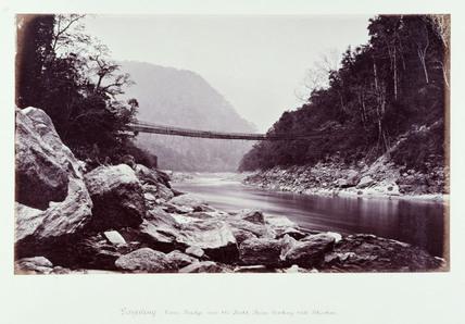 'Darjeeling, Cane Bridge' c 1865.