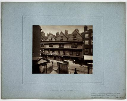 'Old Houses in Gray's Inn Lane', 1878.
