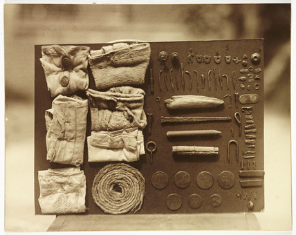 Contents of an ostrich's stomach, c 1930.