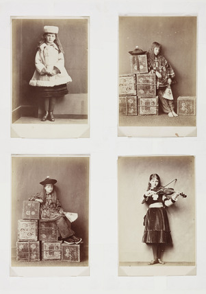 Four 'Xie Kitchin' images, c 1876.
