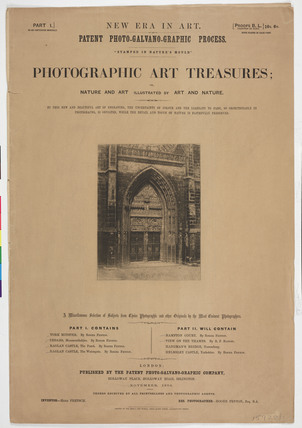 'Photographic Art Treasures', 1856.