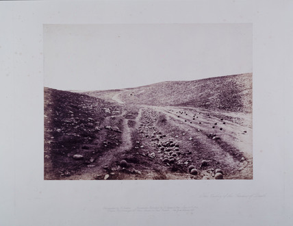 'The Valley of the Shadow of Death', 1855.
