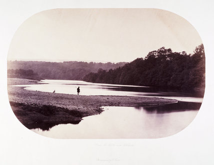 'Down the Ribble near Ribchester', c 1858.