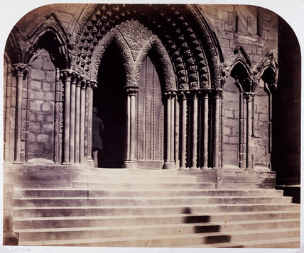 'Lichfield Cathedral. Porch of the South Transept', 1858.
