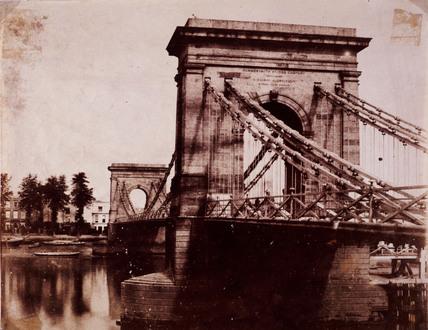 'Hammersmith Bridge', c 1856.