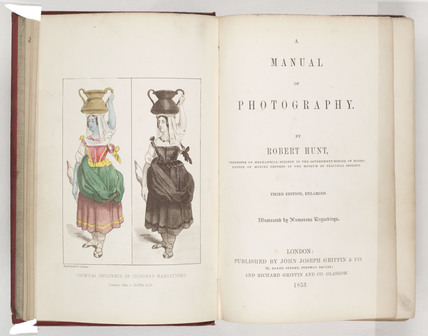 Title page from 'A Manual on Photography', 1853.