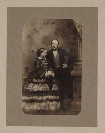 Queen Victoria and Prince Albert, c 1856.