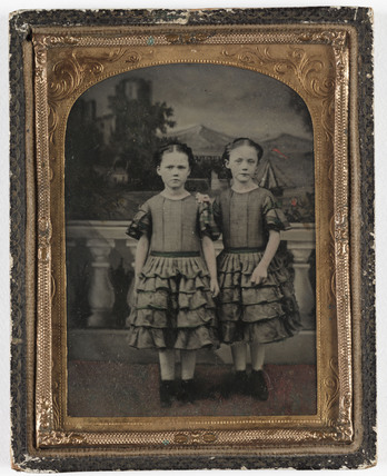 Two sisters, c 1860.