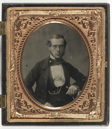 Portrait of young man, c 1860.