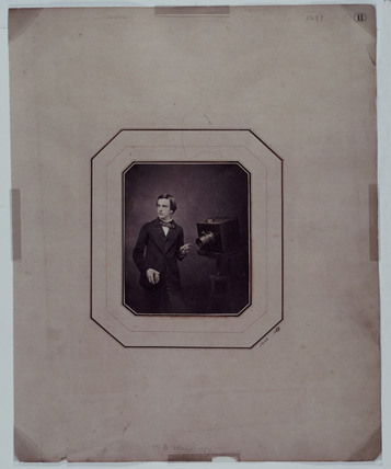 Walter Bentley Woodbury, self-portrait with a camera, 1857.