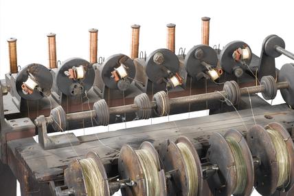 Wire insulating winding machine, 1837.