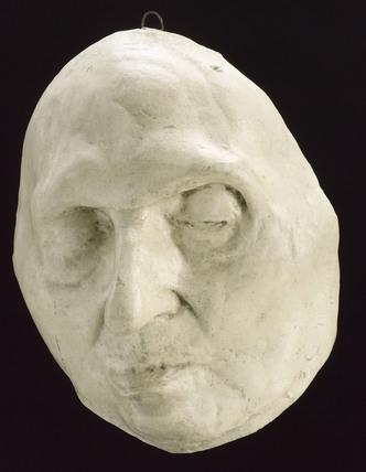 Plaster mask of St Alfonso, Italian?,1860-1920.