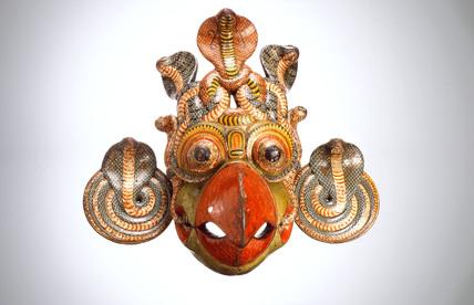 Gurula mask, Sinhalese, 1771-1920.