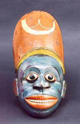 Painted wooden face-mask, Sinhalese, 1771-1900