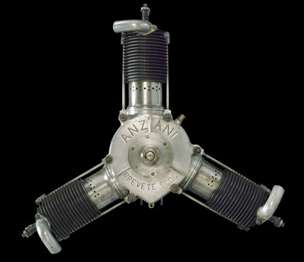 Anzani aircraft engine, 1911-1912.