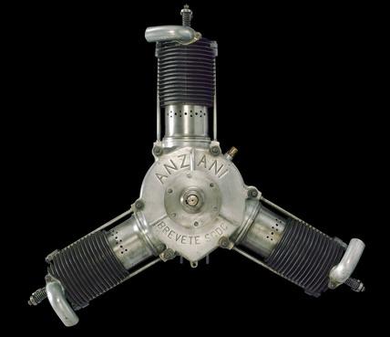 Anzani aircraft engine, 1911-1912.