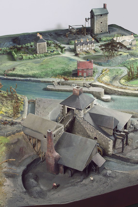 Model of village industries, c 1750.