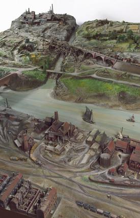 British industrial landscape, c 1865.
