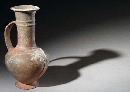 Pottery ring ware jug, Cyprus, 1600-1400 BC.
