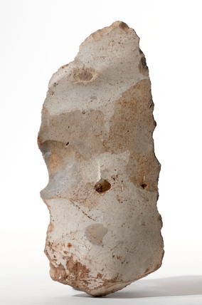 Flint knife and scraper, British, Stone Age, 8500-2000 BC.