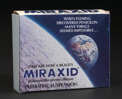 Miraxid paediatric suspension, 1980-1986.