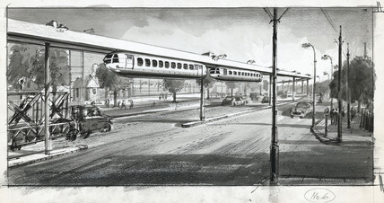 The coming of the monorail, 1956.