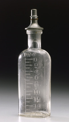 Mills type graduated dropper bottle for chloroform.
