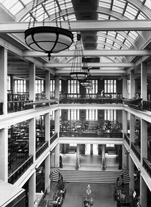 View of the East Hall, Science Museum, London, 1938.