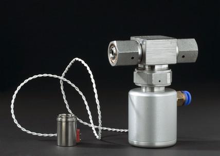 Miniaturised valve from Philae Rosetta comet lander, 2003-2004.