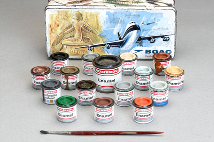 BOAC 'Evolution of Flight' paintbox, 1969-1970.