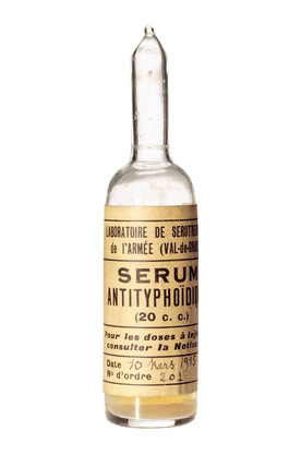 Ampoule of typhoid serum, 1915.