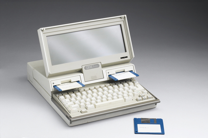 IBM laptop computer, 1987-1988.
