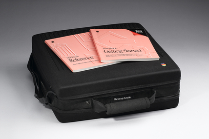 Apple Macintosh portable computer, 1989.